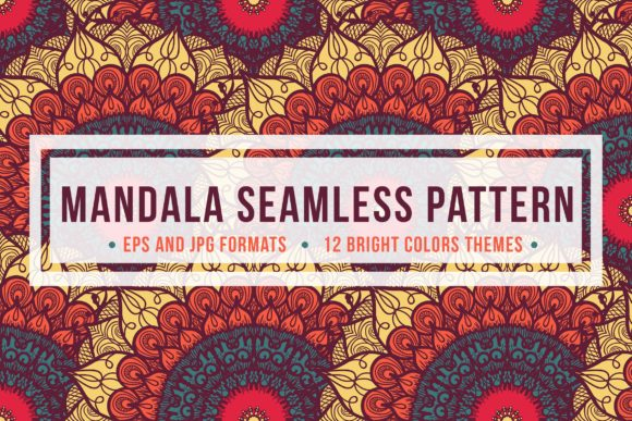 Download Free Mandala Seamless Pattern Graphic By Barsrsind Creative Fabrica for Cricut Explore, Silhouette and other cutting machines.