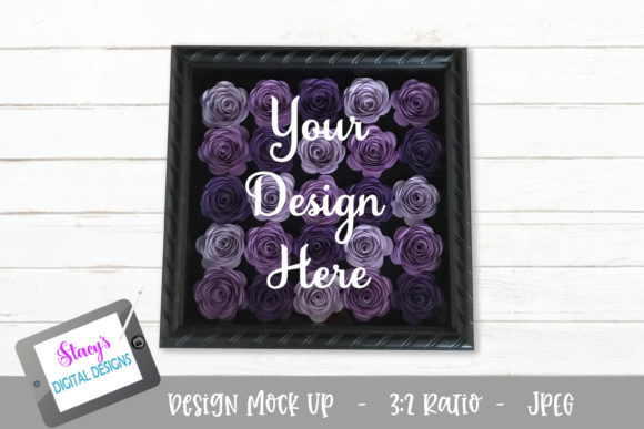 Download Free Mock Up Rolled Flowers Purple Graphic By for Cricut Explore, Silhouette and other cutting machines.