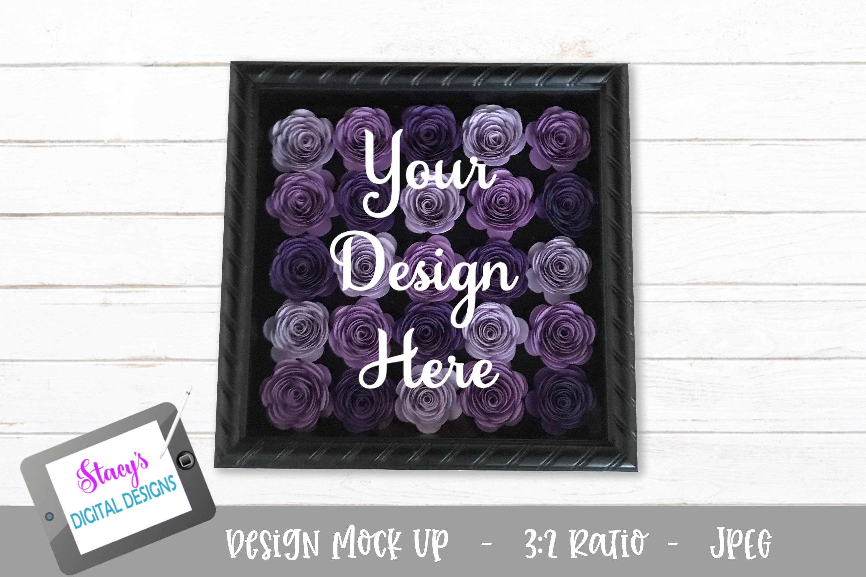 Download Free Mock Up Rolled Flowers Purple Graphic By SVG Cut Files