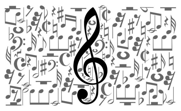 Download Free Musical Notes Staff Graphic By Arief Sapta Adjie Creative Fabrica for Cricut Explore, Silhouette and other cutting machines.