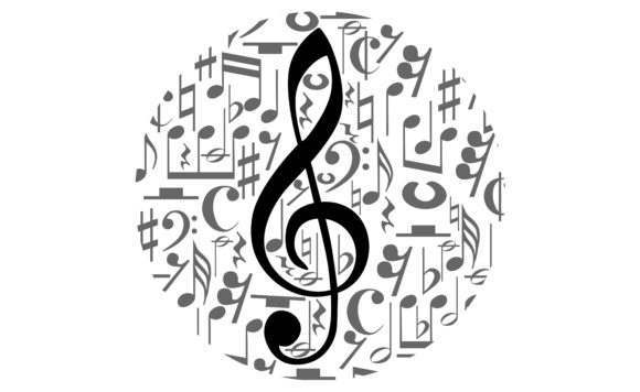 Download Free Musical Notes Staff With Circle Shape Graphic By Arief Sapta for Cricut Explore, Silhouette and other cutting machines.