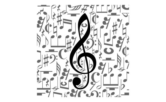 Download Free Musical Notes Staff With Square Shape Graphic By Arief Sapta for Cricut Explore, Silhouette and other cutting machines.