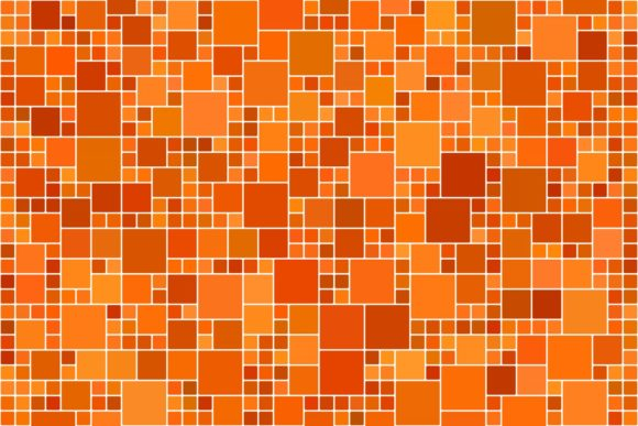 Download Free Orange Square Mosaic Tile Background Graphic By Davidzydd for Cricut Explore, Silhouette and other cutting machines.