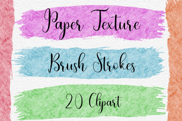 Download Free Paper Texture Brush Strokes Clip Art Graphic By Pinkpearly for Cricut Explore, Silhouette and other cutting machines.
