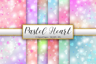 Print on Demand: Pastel Heart Bokeh Background Graphic Backgrounds By PinkPearly