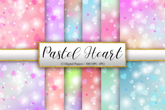 Pastel Heart Bokeh Background Graphic Backgrounds By PinkPearly