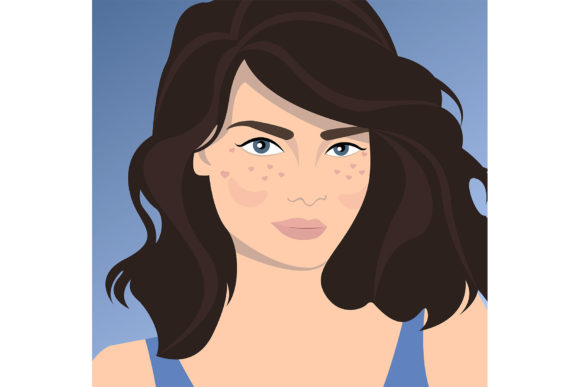 Pretty Lady. Graphic Illustrations By Sasha_Brazhnik