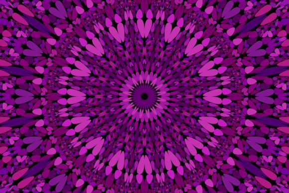 Download Free Purple Floral Mandala Background Graphic By Davidzydd Creative for Cricut Explore, Silhouette and other cutting machines.