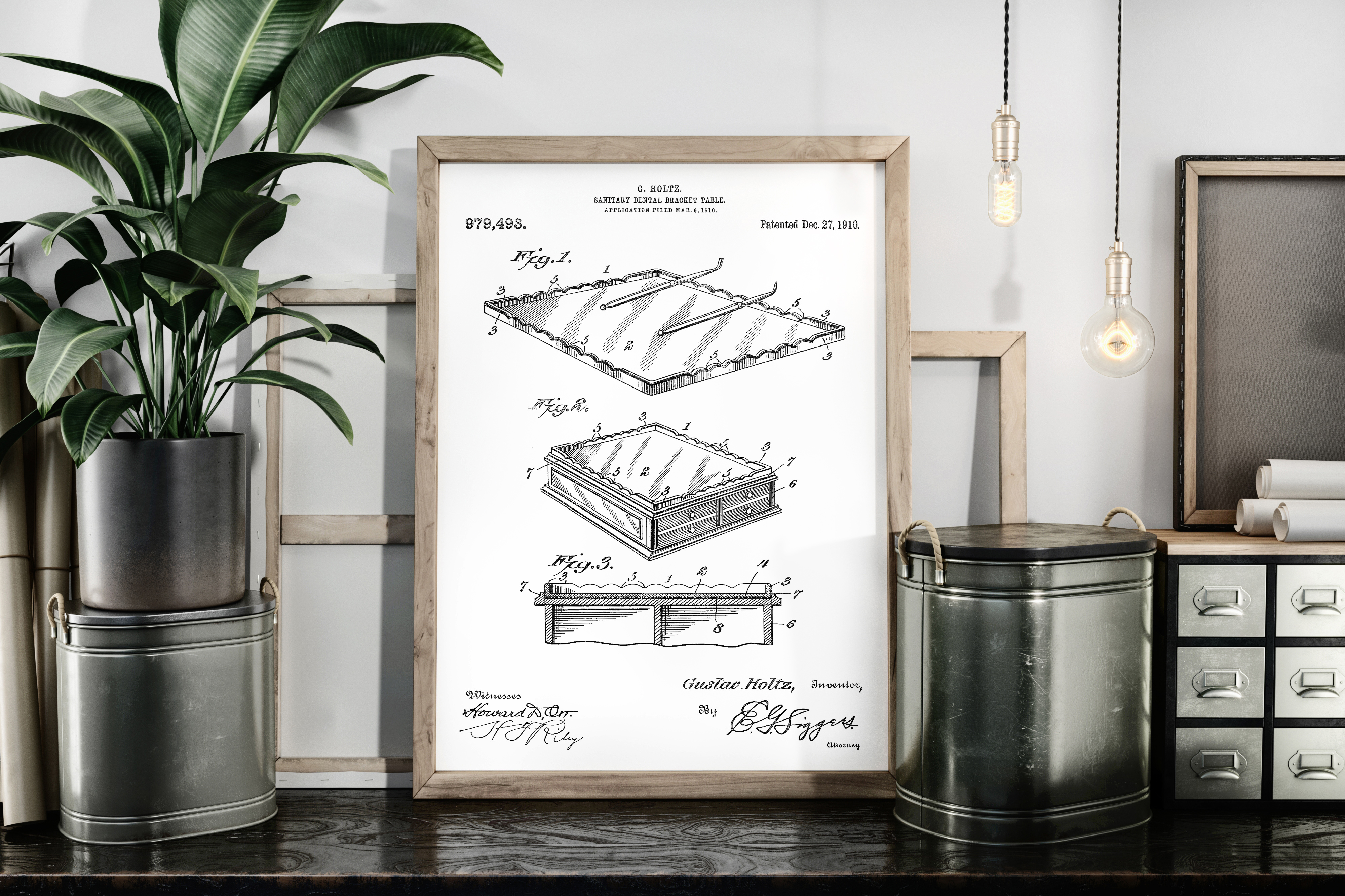 Download Free Sanitary Dental Bracket Table Patent Art Graphic By Antique Pixls Creative Fabrica for Cricut Explore, Silhouette and other cutting machines.