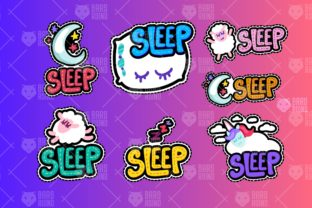 Print on Demand: Sleeping at Good Night Patches Graphic Objects By barsrsind