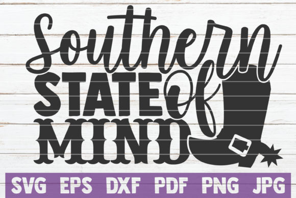 Download Free Southern State Of Mind Graphic By Mintymarshmallows Creative for Cricut Explore, Silhouette and other cutting machines.