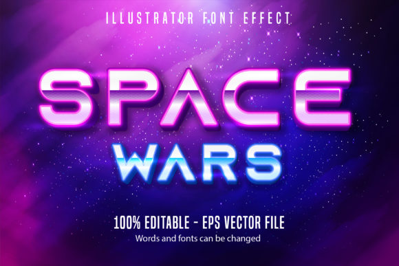 Download Free Space War Text Neon Style Editable Text Graphic By Mustafa SVG Cut Files