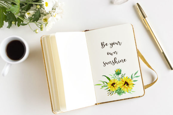 Sunflowers Watercolor Clipart Graphic Illustrations By RedDotsHouse - Image 5