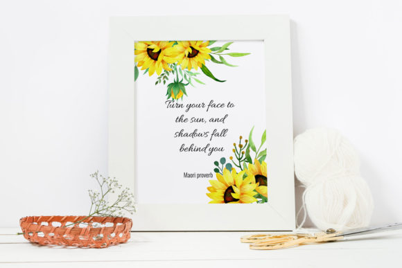 Sunflowers Watercolor Clipart Graphic Illustrations By RedDotsHouse - Image 6
