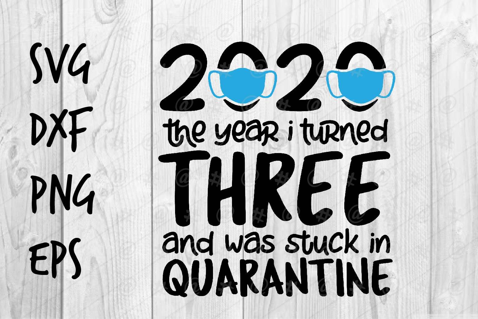Download Free Three And Quarantine Graphic By Spoonyprint Creative Fabrica for Cricut Explore, Silhouette and other cutting machines.