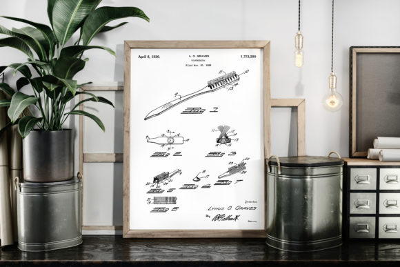 Download Free Toothbrush Patent Art Print Blueprint Graphic By Antique Pixls for Cricut Explore, Silhouette and other cutting machines.
