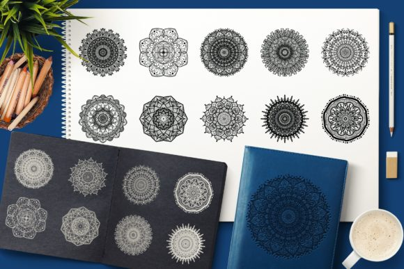 Print on Demand: Vector Mandala Collection Graphic Objects By barsrsind