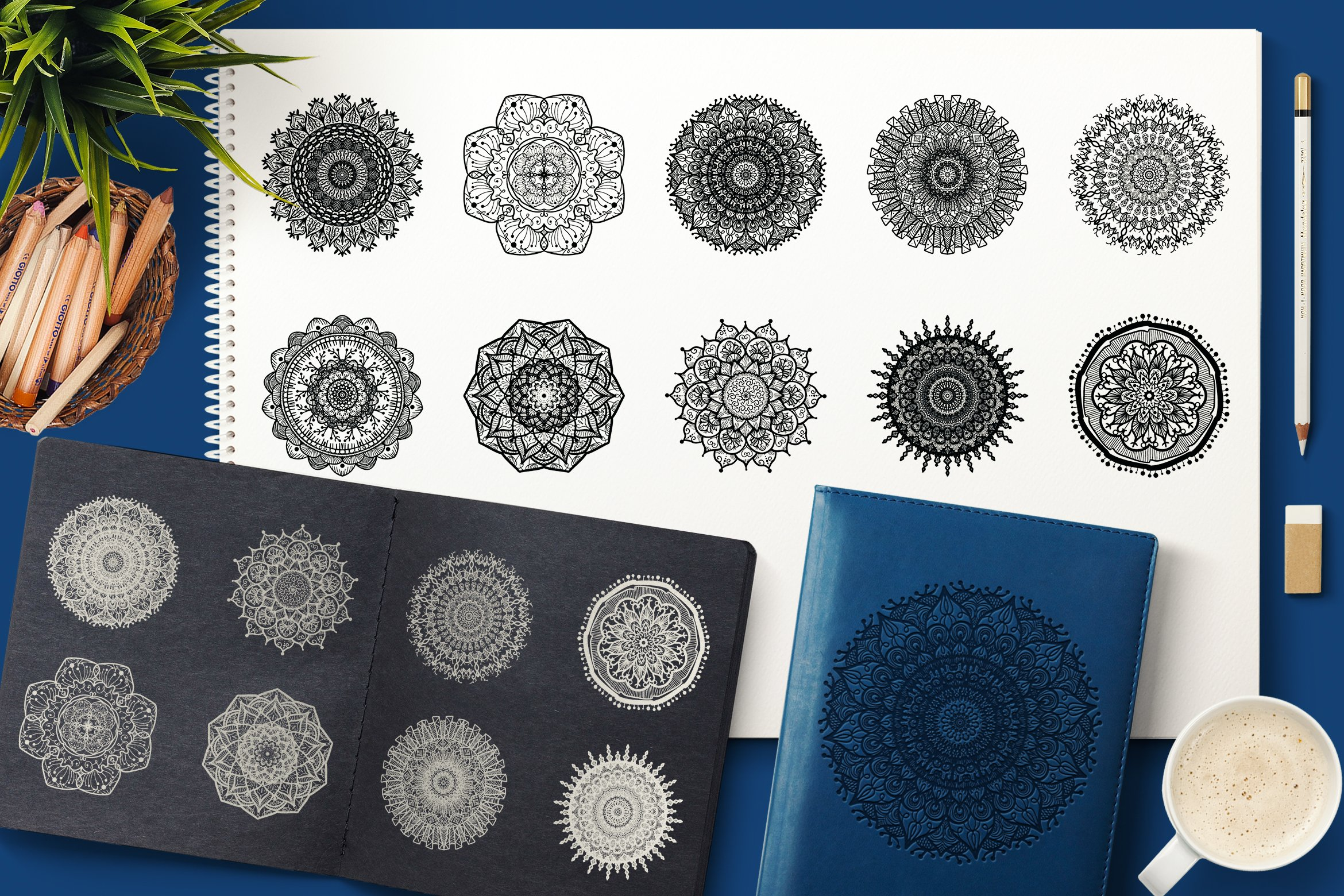 Download Free Vector Mandala Collection Graphic By Barsrsind Creative Fabrica SVG Cut Files