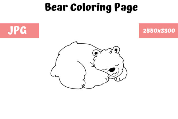 Print on Demand: Bear Coloring Book Page for Kids Graphic Coloring Pages & Books Kids By MyBeautifulFiles