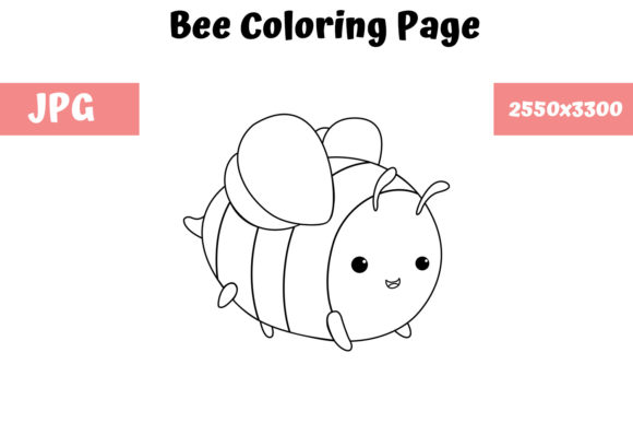Print on Demand: Bee Coloring Book Page for Kids Graphic Coloring Pages & Books Kids By MyBeautifulFiles