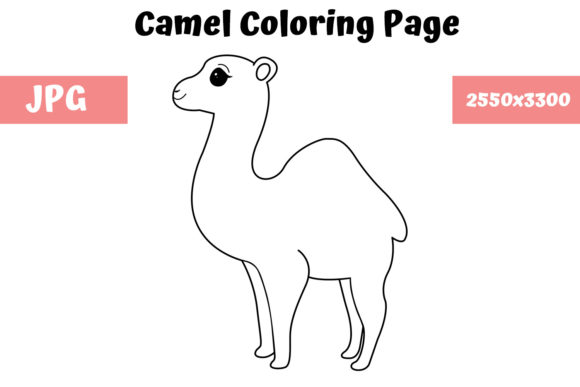 Print on Demand: Camel Coloring Book Page for Kids Graphic Coloring Pages & Books Kids By MyBeautifulFiles