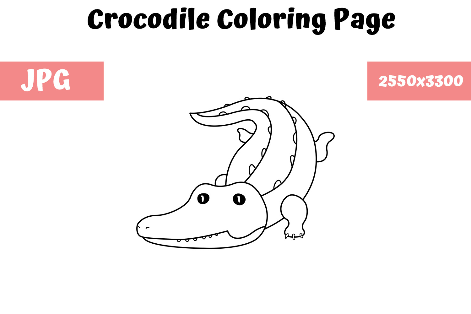 Cartoon Crocodile coloring page   Free Printable Coloring Pages   1000x1500