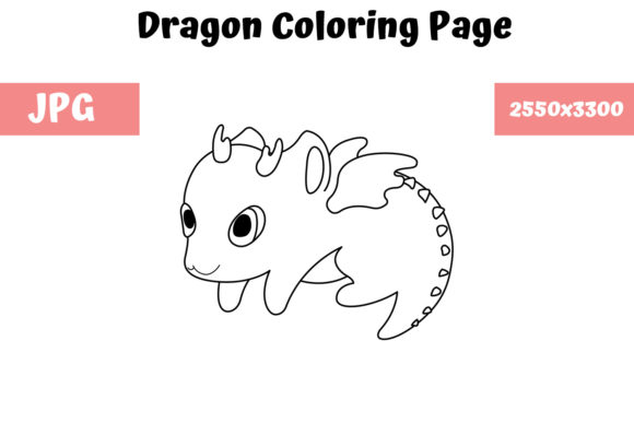 Print on Demand: Dragon Coloring Book Page for Kids Graphic Coloring Pages & Books Kids By MyBeautifulFiles