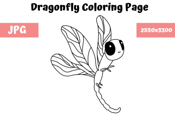 Print on Demand: Dragonfly Coloring Book Page for Kids Graphic Coloring Pages & Books Kids By MyBeautifulFiles