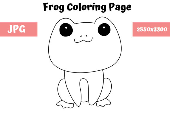 Print on Demand: Frog Coloring Book Page for Kids Graphic Coloring Pages & Books Kids By MyBeautifulFiles - Image 1
