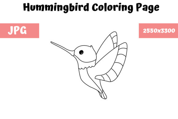 Print on Demand: Hummingbird Coloring Book Page for Kids Graphic Coloring Pages & Books Kids By MyBeautifulFiles