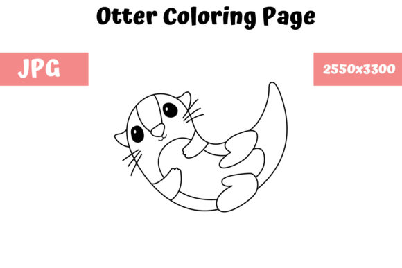 Print on Demand: Otter Coloring Book Page for Kids Graphic Coloring Pages & Books Kids By MyBeautifulFiles