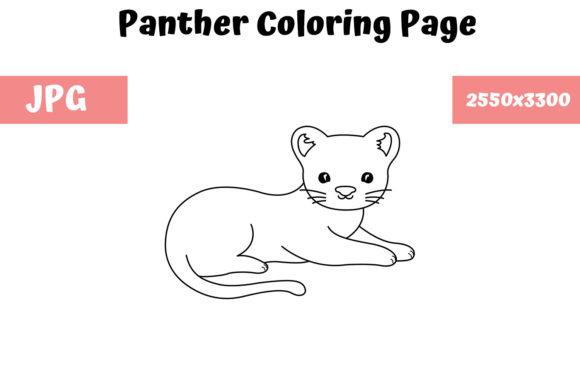 Print on Demand: Panther Coloring Book Page for Kids Graphic Coloring Pages & Books Kids By MyBeautifulFiles