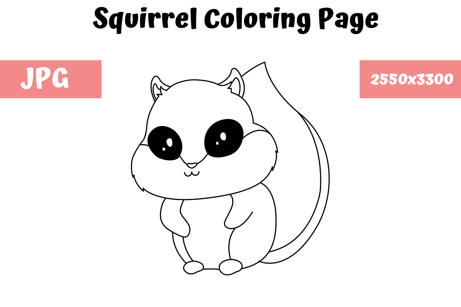 Download Free Squirrel Coloring Book Page For Kids Graphic By Mybeautifulfiles for Cricut Explore, Silhouette and other cutting machines.