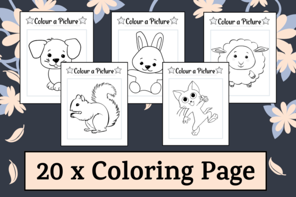 Print on Demand: 10 Coloring Pages Activity Sheets #1 Graphic K By Hungry Puppy Studio