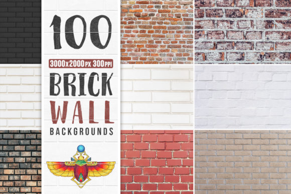 100 Brick Wall Backgrounds Pack Graphic Textures By pixaroma