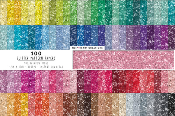 Download Free 100 Glitter Papers Graphic By Clipheartcreations Creative Fabrica for Cricut Explore, Silhouette and other cutting machines.