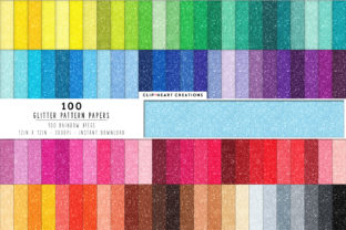 100 Glitter Papers Graphic Backgrounds By clipheartcreations