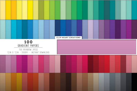 Download Free 100 Gradient Papers Graphic By Clipheartcreations Creative Fabrica for Cricut Explore, Silhouette and other cutting machines.