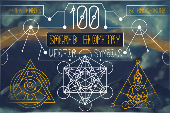 Download Free 100 Sacred Geometry Symbols Graphic By Pixaroma Creative Fabrica for Cricut Explore, Silhouette and other cutting machines.