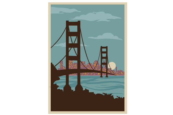 Download Free Vintage San Francsico Poster Svg Cut File By Creative Fabrica SVG Cut Files