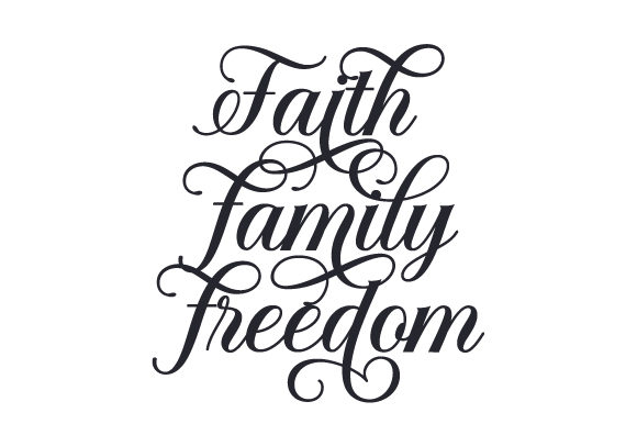 Faith - Family - Freedom Military Craft Cut File By Creative Fabrica Crafts