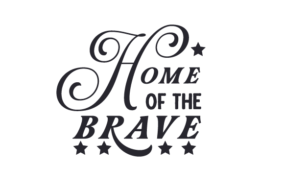 Download Free Home Of The Brave Svg Cut File By Creative Fabrica Crafts for Cricut Explore, Silhouette and other cutting machines.