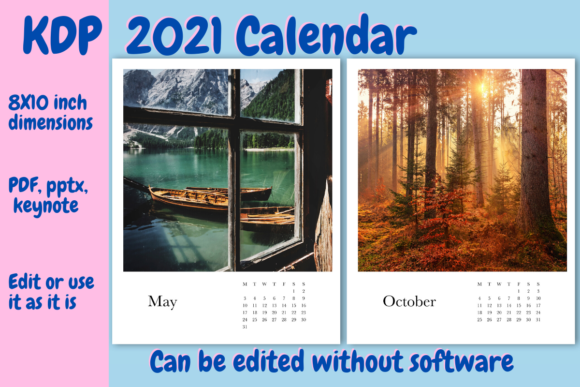 Print on Demand: 2021 Calendar for KDP Graphic KDP Interiors By Income Plum
