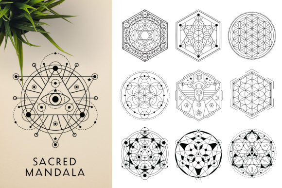 300 Mandala Ornaments Graphic Illustrations By pixaroma - Image 11
