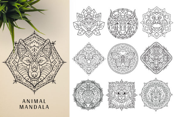 300 Mandala Ornaments Graphic Illustrations By pixaroma - Image 13