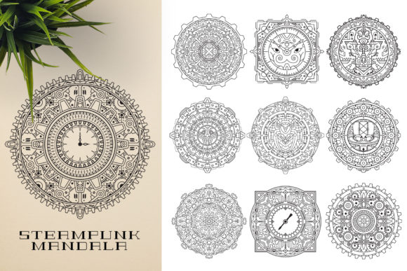 300 Mandala Ornaments Graphic Illustrations By pixaroma - Image 14