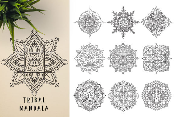 300 Mandala Ornaments Graphic Illustrations By pixaroma - Image 15