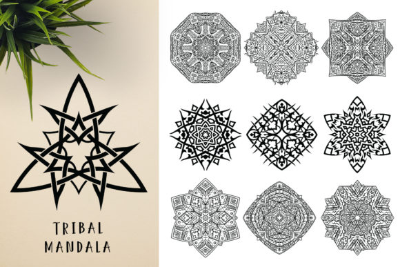 300 Mandala Ornaments Graphic Illustrations By pixaroma - Image 16