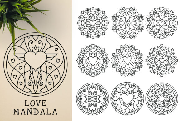 300 Mandala Ornaments Graphic Illustrations By pixaroma - Image 17
