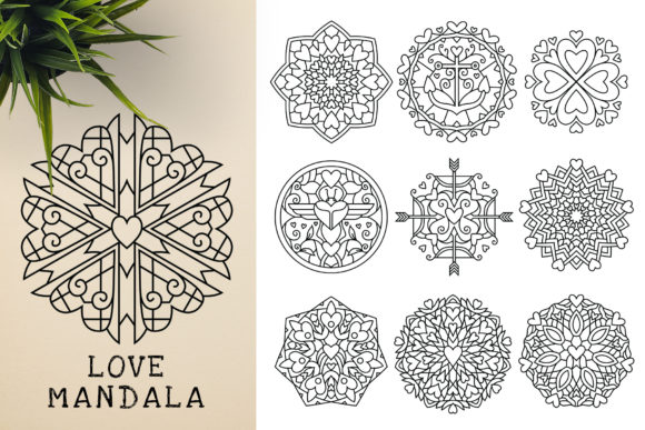 300 Mandala Ornaments Graphic Illustrations By pixaroma - Image 18